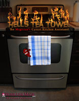 Hell's Tea Towel product photo.